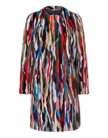 "Fur Coat ""rainbow"""