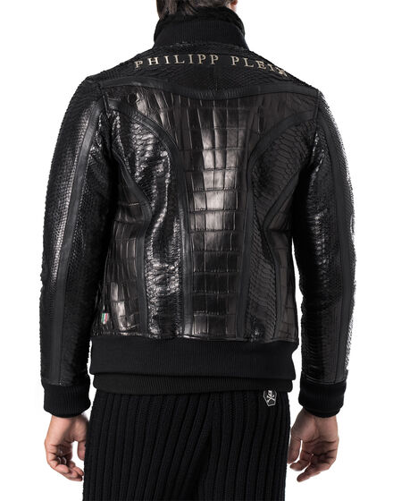 "leather bomber ""root"""