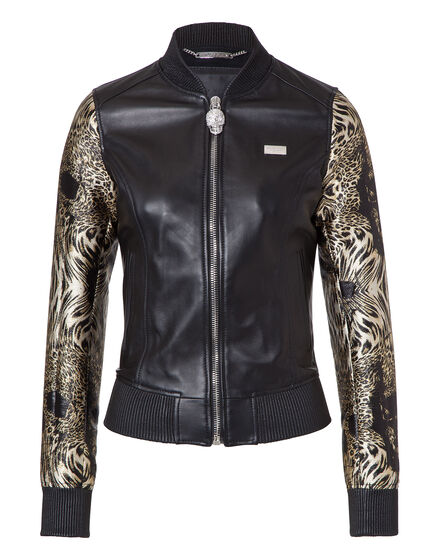 "Leather Bomber ""Mich"""