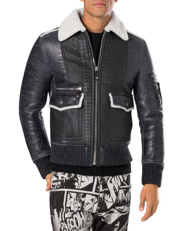 """leather jacket """"animalistic"""""""
