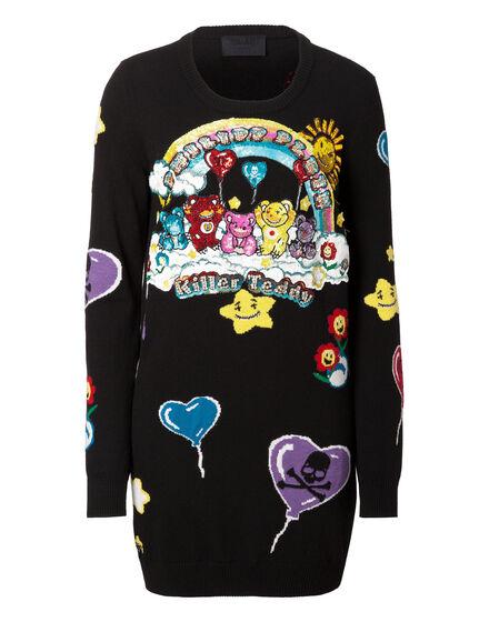 Knit Day Dress Family Bear