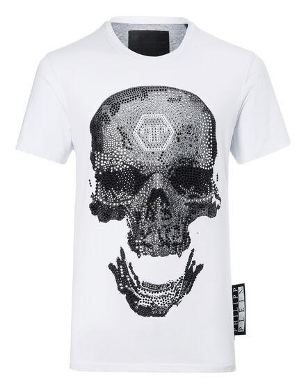 T-shirt Round Neck SS Strass skull