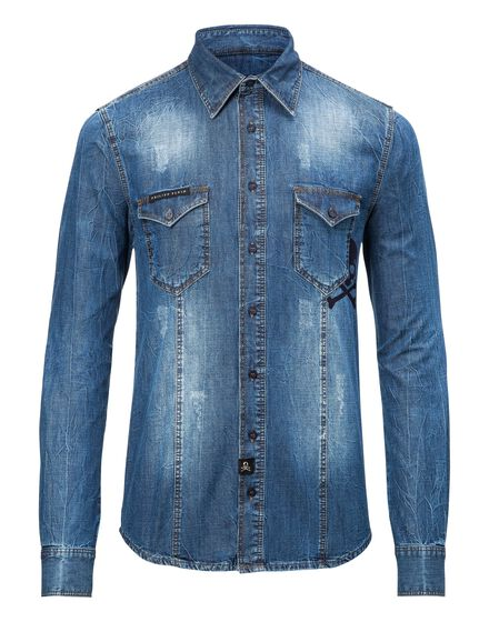 Denim Shirt Ls Sail