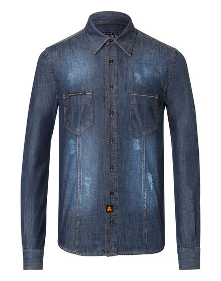 Denim Shirt Ls Trouble