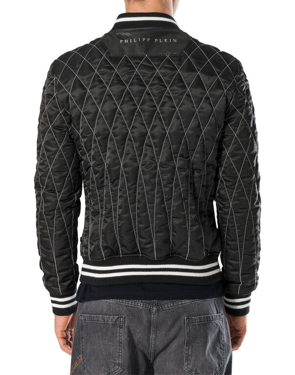 """Leather Bomber """"Ymay"""""""