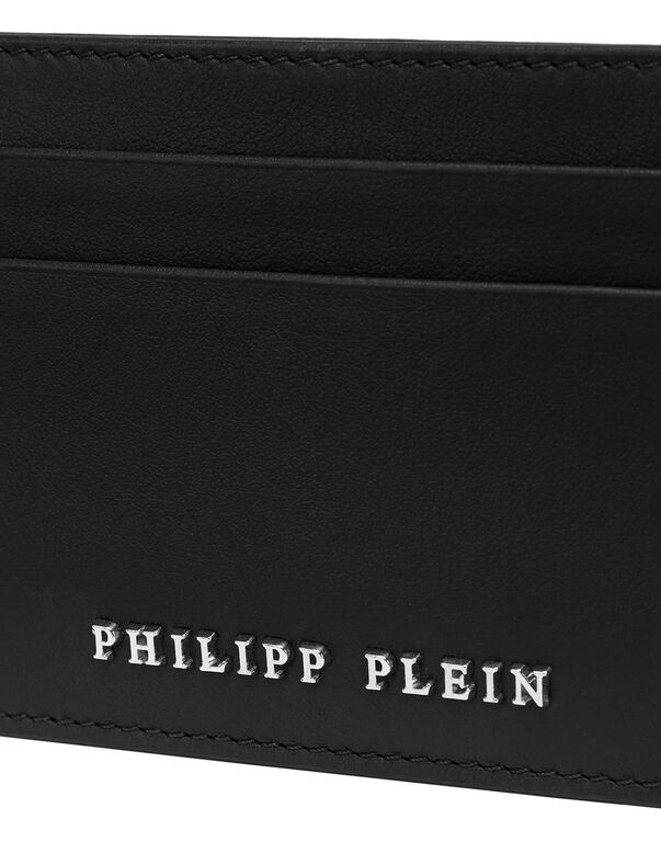Leather Credit Cards Holder Iconic Plein