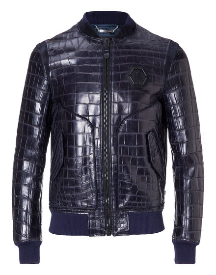 Leather Bomber Tiger face
