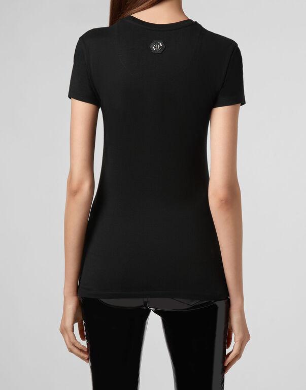 T-shirt Round Neck SS Neon rose