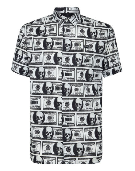 Shirt Crystal cut SS Dollar