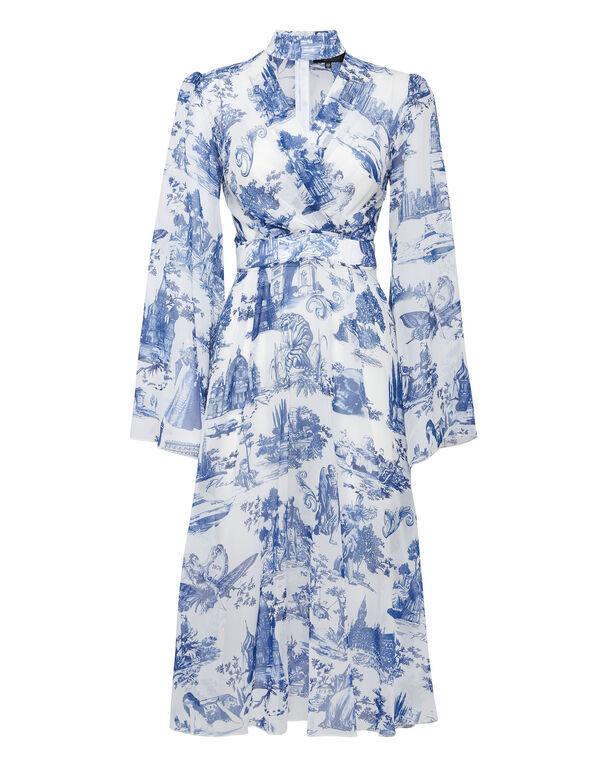 Georgette Long Crystal Dress En PLEIN air