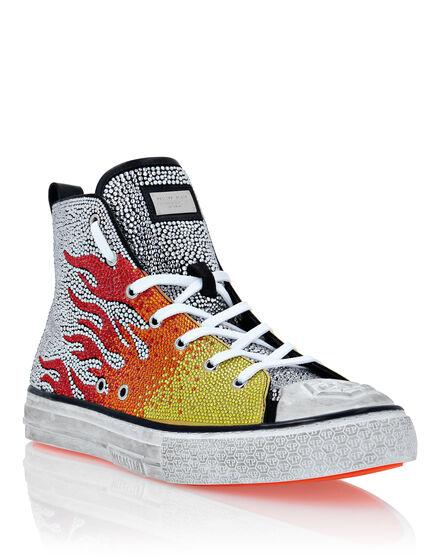 Hi-Top Sneakers Flames Megastar