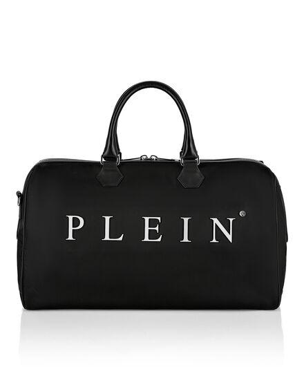 Nylon Medium Travel Bag Iconic Plein