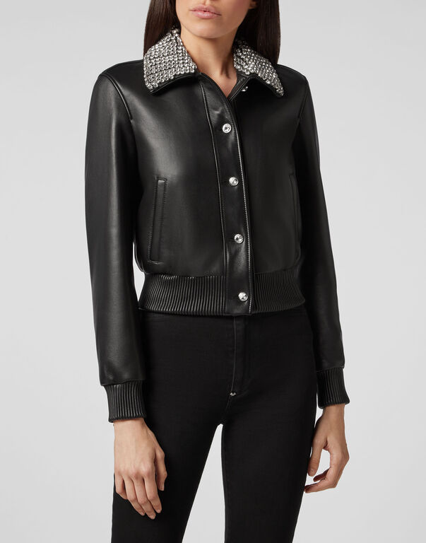 Leather Bomber Crystal