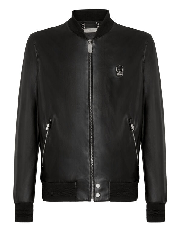 Leather Bomber Skull