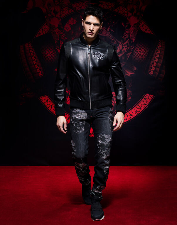 "Leather Bomber ""Nakamura"""