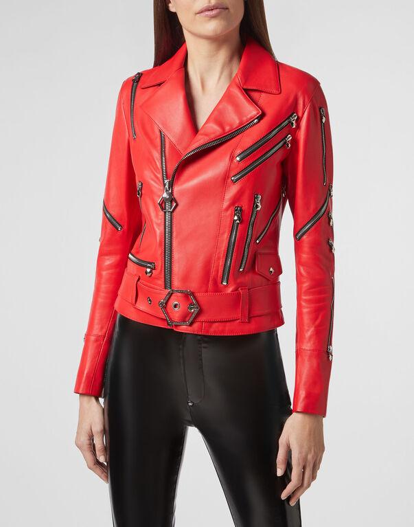 Leather Biker Zipped