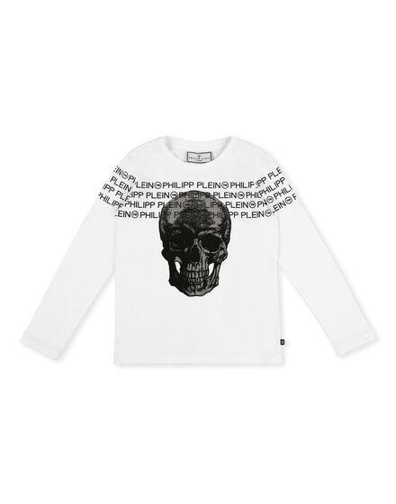 T-shirt Round Neck LS Skull