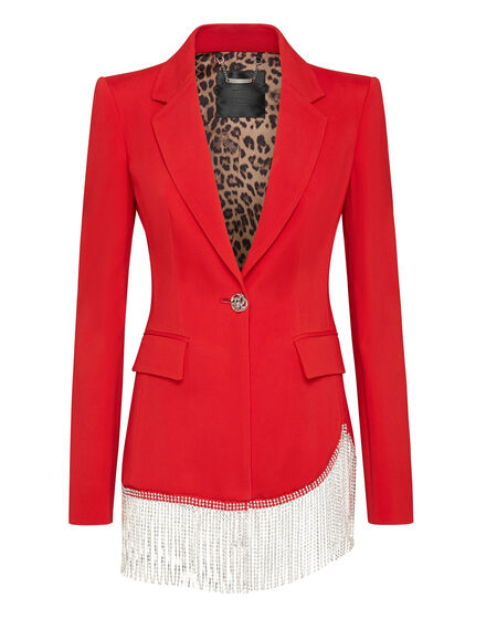 Sophia Full Color Crystal  Blazer Fringe