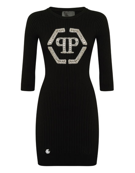 Knit Day Dress Crystal Plein