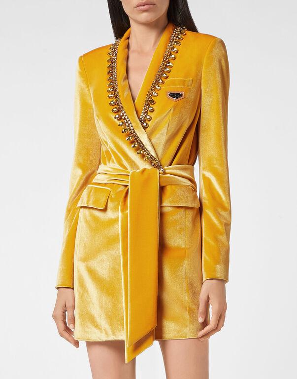 Velvet Blazer Dress Iconic Plein