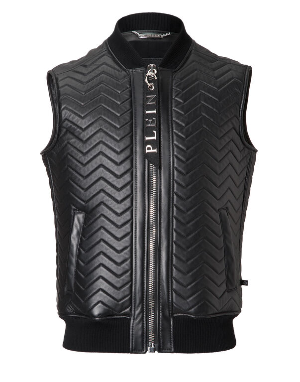 "Leather Vest Short ""Nagakijo"""