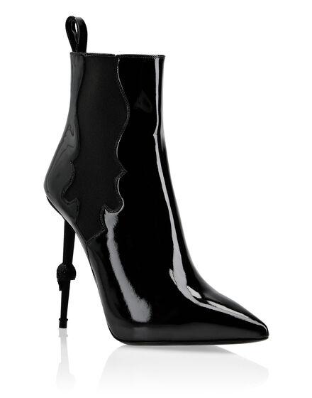 Boots Mid Heels High Skull