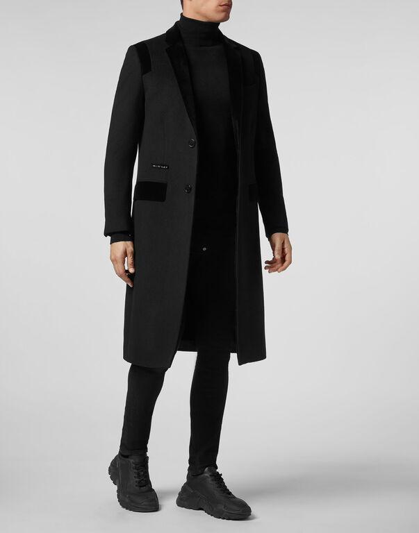 Coat Long Space Plein