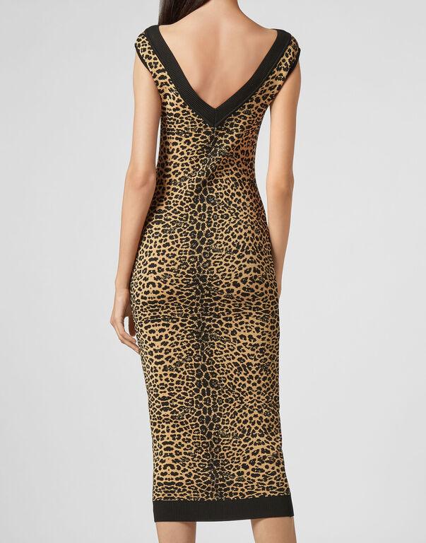 Knit Dress Maribelle Leopard