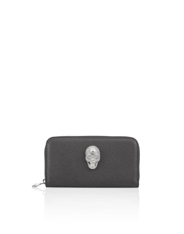 Continental wallet Skull crystal