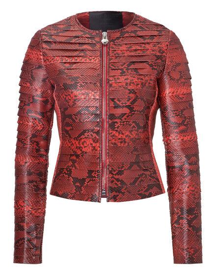 leather jacket snake