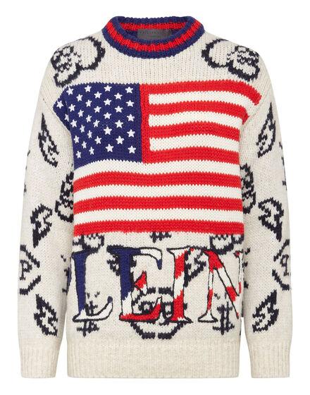 Alpaca wool USA Pullover Round Neck LS