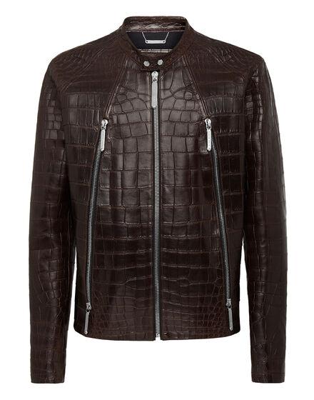 Leather Moto Jacket Philipp cocco