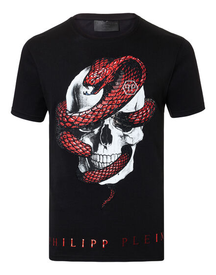 T-shirt Round Neck SS Strass snake