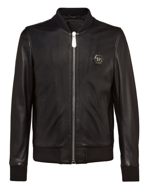 "Leather Bomber ""Basic"""