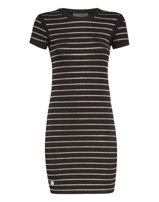 "Short Dress ""Crystal stripes"""
