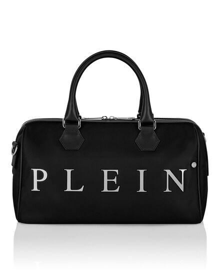 Nylon Big Travel Bag Iconic Plein