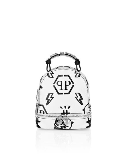 Leather Backpack Embossed Monogram