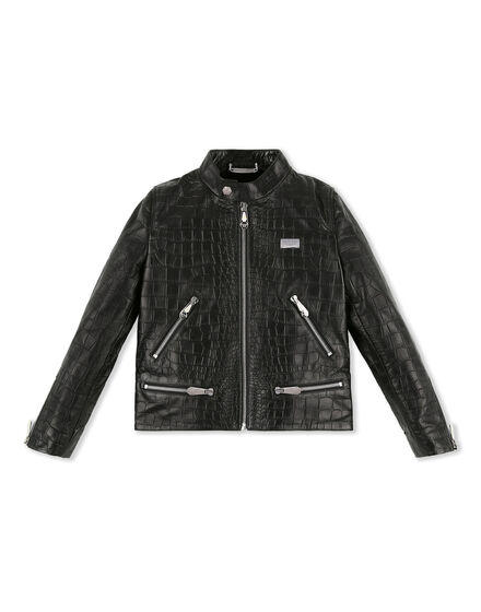 Leather Moto Jacket Logos