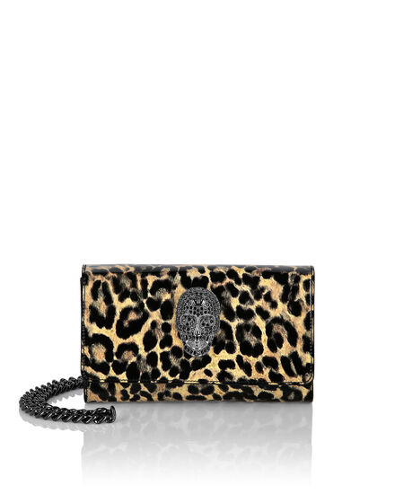 Patent Leather Mini Shoulder Leopard
