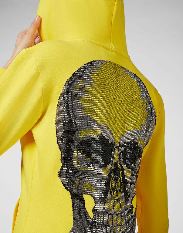 Hoodie Sweatjacket Classic Skull strass