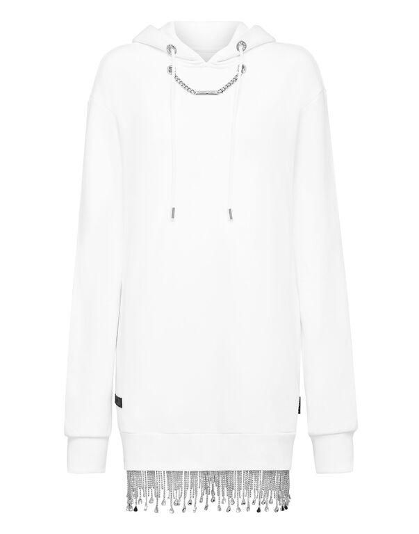 Hoodie sweatshirt Crystal Fringe