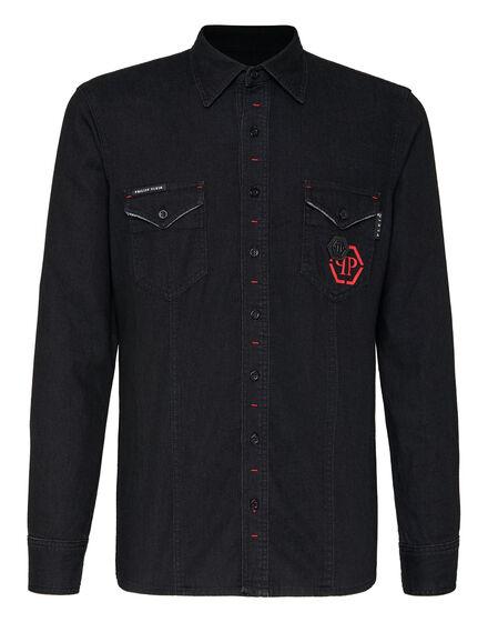 Denim Shirt Ls Hexagon