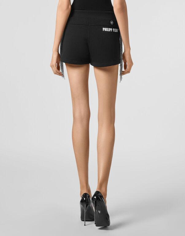 Jogging Shorts Silver Fringe