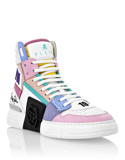 PHANTOM KICK$ Hi-Top Sneakers Luxury