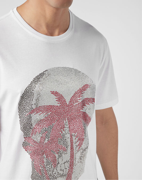 T-shirt Platinum Cut Round Neck Aloha Plein
