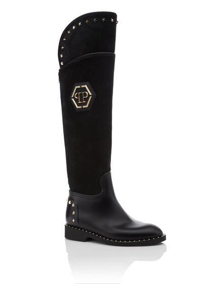Boots Flat High Stars
