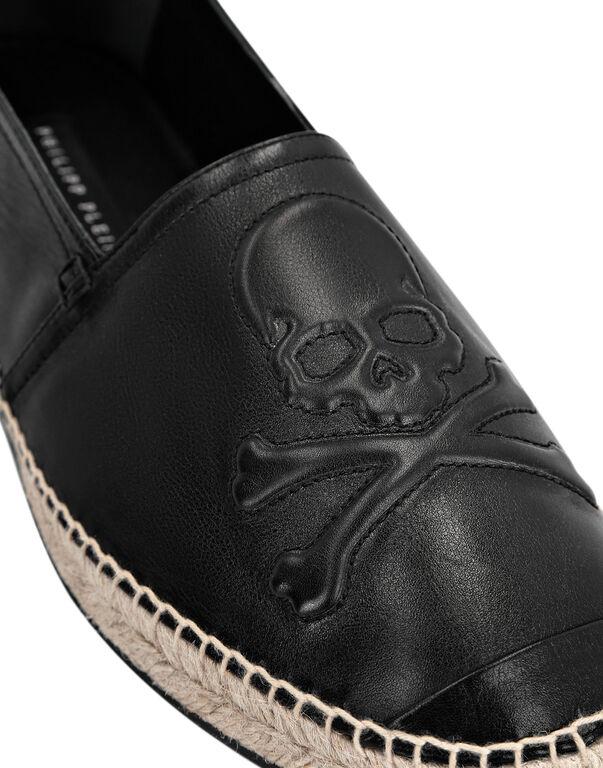 Leather Espadrillas Skull