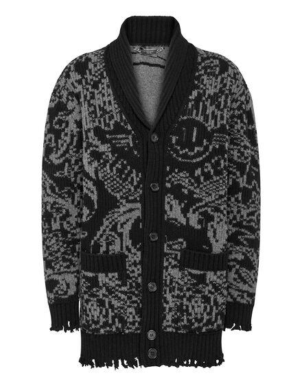 Wool Jacquard Coat New Baroque