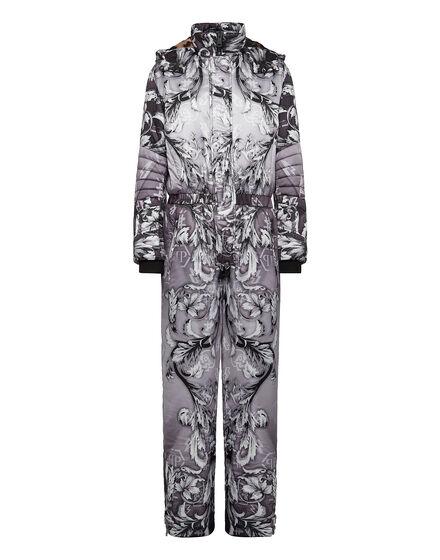 Nylon Ski jumpsuit print New Baroque