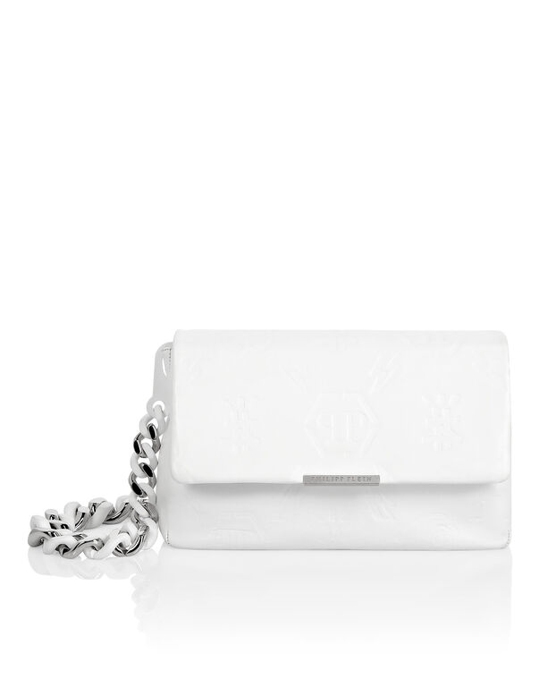 Leather Shoulder Bag Embossed Monogram